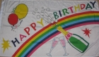 Happy Birthday Champagne flag