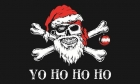 Pirate yo ho ho Christmas flag
