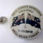 Gallipoli 1915-2015 badge