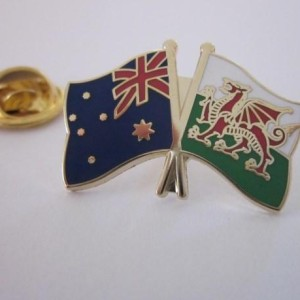 Australia Wales friendship Badge
