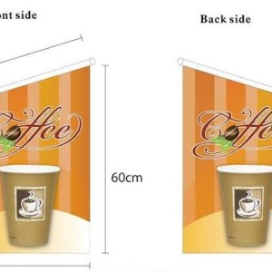 Coffee Takeaway wall flag