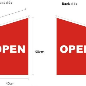 open wall flag with pole