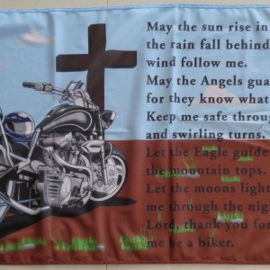 Bikers prayer motorcycle flag