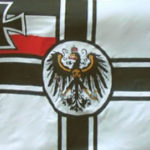 German imperial with crest flag