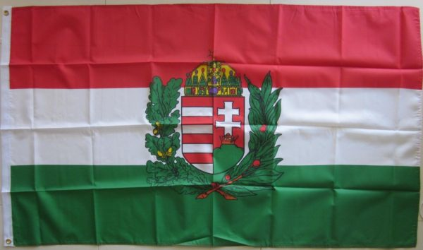 Hungary coat of arms flag