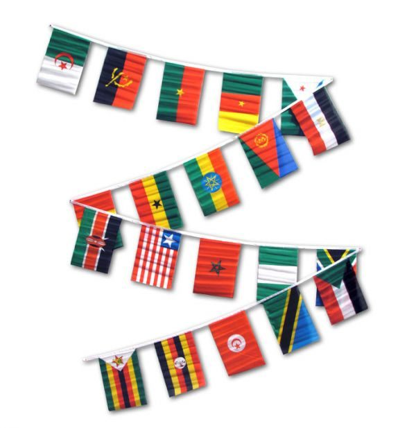 20 African country flag bunting