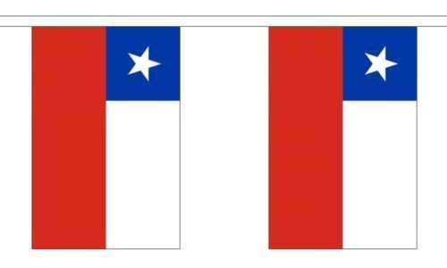 Chile flag bunting