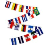 South American flag Bunting