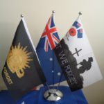Lest we forget flags Desk flags