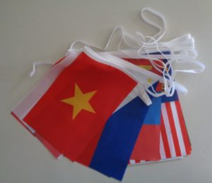 Asia Flag Bunting