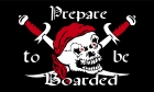 Pirate prepare to be boarded flag
