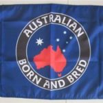Australian born and bred flag